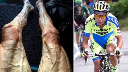 Así lucen las piernas de un ciclista tras correr el Tour de Francia