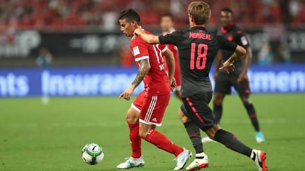 Las dos ocasiones que falló James Rodríguez en amistoso del Bayern Munich