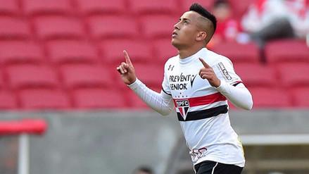 Christian Cueva dio una asistencia gol y Sao Paulo acabó con mala racha