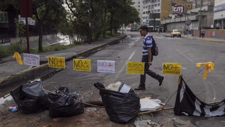 Oposición realiza un paro general de 24 horas en Venezuela