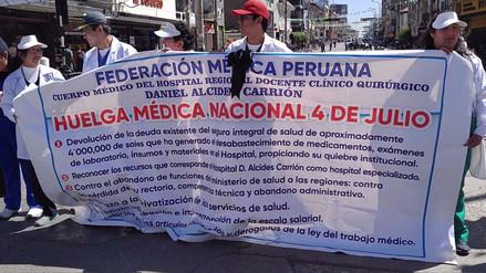 Huancayo: médicos alertan desabastecimiento por huelga