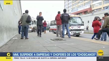Municipalidad de Lima suspende a 'Chosicanos' involucrados en accidente