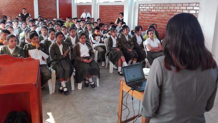 """Internos del """"Escuelin"""" contarán experiencia a alumnos de colegios de Reque"""