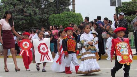 Niños derrochan peruanidad en desfiles de instituciones del nivel Inicial