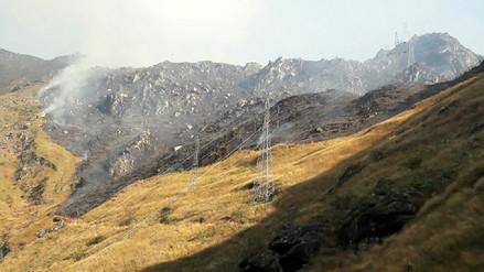 Incendio forestal se produce en el sector de Aobamba