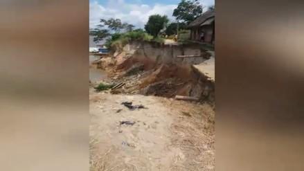 Loreto: Colegios ubicados en la orilla del río Marañón quedaron inhabilitados por deslizamiento de tierra