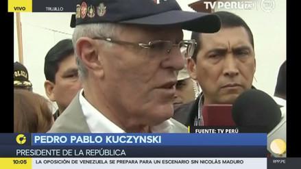 """Kuczynski: """"Estoy seguro que la ministra Pérez Tello ha actuado bien"""""""