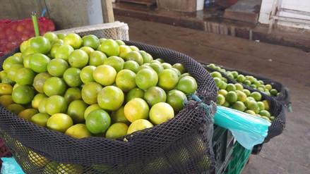 Sube en 200 % el precio del limón en mercados de Lambayeque
