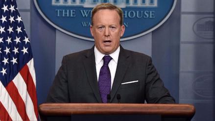 Renunció Sean Spicer, el portavoz de la Casa Blanca