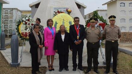 Rinden homenaje a Demetrio Acosta héroe de la Campaña Militar de 1941