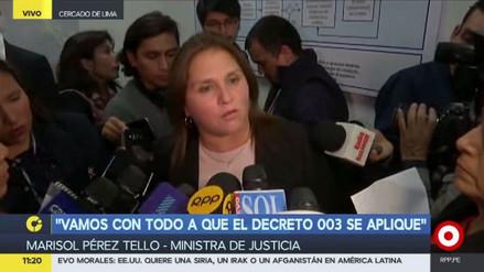 """Marisol Pérez Tello: """"Yo no voy a renunciar"""""""