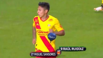 Raúl Ruidíaz fue ovacionado cuando ingresó para enfrentar a Monterrey
