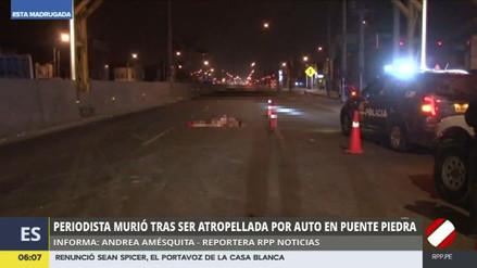 Una periodista murió atropellada en Puente Piedra