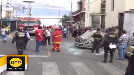 Despiste de auto dejó cinco heridos en la Carretera Central