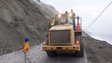Así trabajan en la Panamericana Sur para restablecer el tránsito