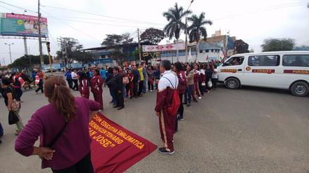 Escolares afectados por huelga de maestros en Lambayeque