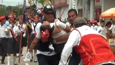 Más de 30 escolares sufrieron descompensación durante desfile