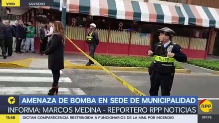 Amenaza de bomba en sede de la Municipalidad de San Isidro evacuó a trabajadores