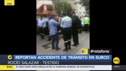 Conductor en aparente estado de ebriedad ocasiono accidente en Surco