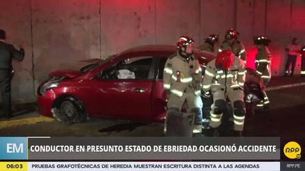 Un conductor en presunto estado de ebriedad originó un accidente en la Vía Expresa