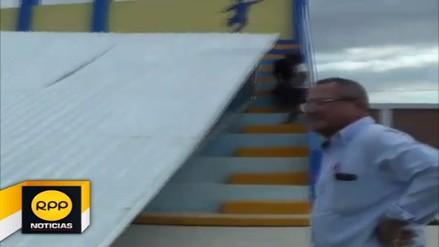 Techo de estadio en colegio de Tumbes cayó a pocas horas de ser inaugurada