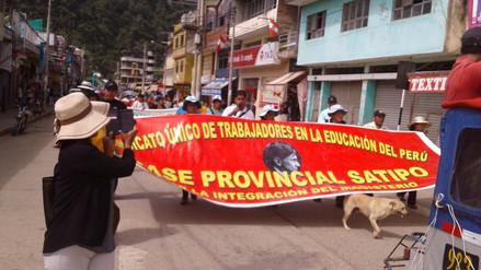Profesores de Satipo viajan a Lima para sumarse a huelga indefinida