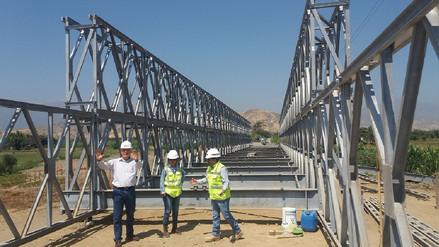 Instalación de puente Bailey en Chongoyape presenta avance de más del 70%