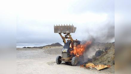 Yanacocha denunció a manifestantes por quemar maquinaria