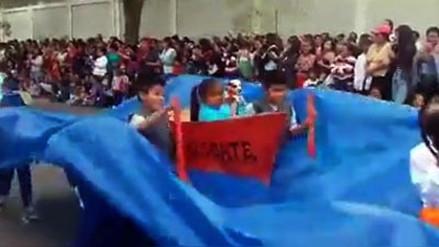 Fiestas Patrias: niños escenificaron trágicos momentos de la inundación en Piura