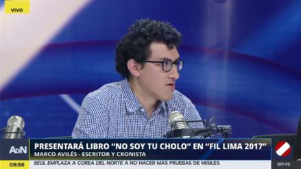 """Marco Avilés: """"El racismo puede llegar a ser un monólogo interior"""""""