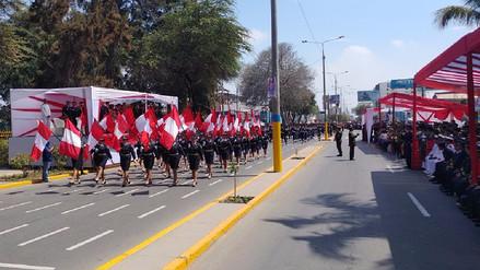Gallardía y algarabía durante desfile por Fiestas Patrias en Chiclayo
