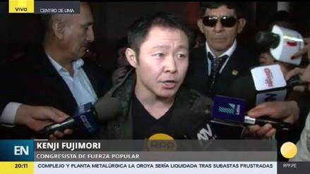 Kenji Fujimori participó de una misa de salud por su padre Alberto