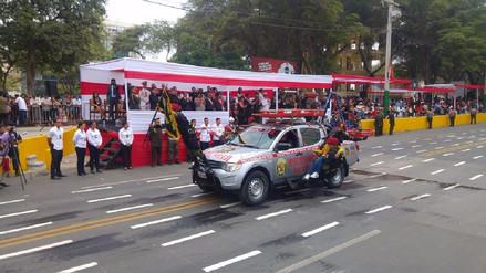 Piura vivió desfile cívico militar por 196° aniversario de la Independencia