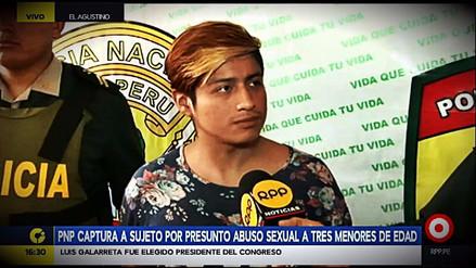 La Policía capturó en El Agustino a un presunto abusador de menores