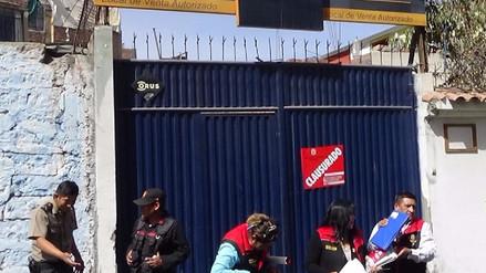 Clausuran distribuidoras de gas clandestinas en Miraflores