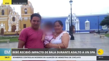 Delincuentes balearon a una bebé durante un asalto en Villa El Salvador