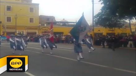 Escolares iqueños vivieron con fervor desfile por Fiestas Patrias