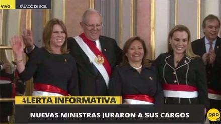 Molinelli, Choquehuanca y Aljovín juraron como ministras