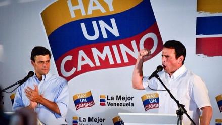 Henrique Capriles y Leopoldo López se unen a un día de la elección Constituyente