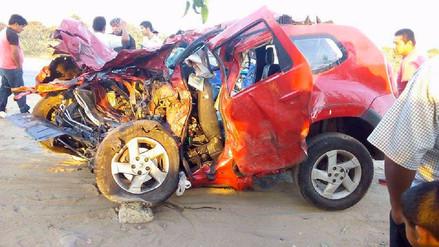 Choque entre camioneta y tráiler deja cinco muertos en Pacasmayo