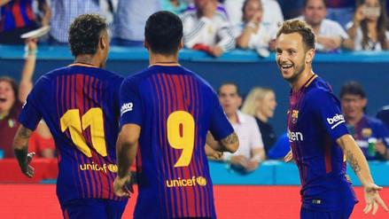 Neymar, Suárez y Rakitic armaron un gol de fantasía para Barcelona