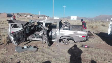 Dos muertos dejó accidente de tránsito en la vía Juliaca - Arequipa
