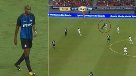 Así fue el 'autogolazo' de Kondogbia en el partido Inter vs. Chelsea