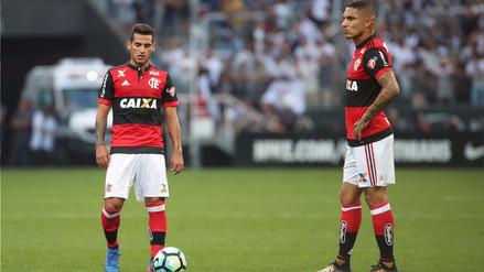 Flamengo empató 1-1 ante Corinthians con Guerrero y Trauco de titulares