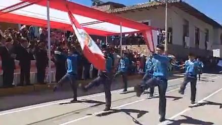 Con vistoso desfile cívico escolar Cajabamba rinde homenaje a la patria