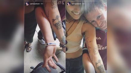 Macaulay Culkin e hija de Michael Jackson se tatúan el brazo