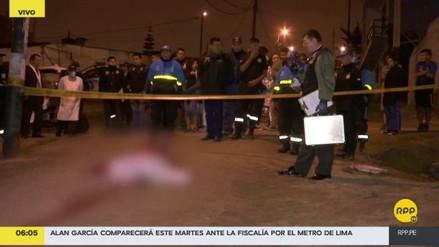 Sicarios mataron a balazos a un joven en Ventanilla