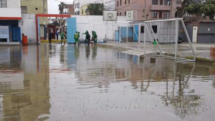 Chorrillos: Alumnos del colegio San Pedro perjudicados por aniego