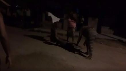 Una menor de edad fue agredida por su familia en plena vía pública