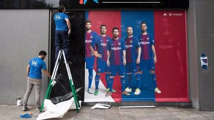 El Barcelona se olvida de Neymar eliminando afiches, publicidad y uniformes